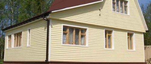 Профнастил НС-21 сторона А горизонтальная зашивка фасад